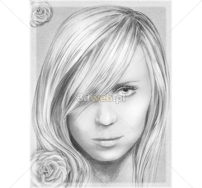 Rysunek Portret Grafika Fantasy 004