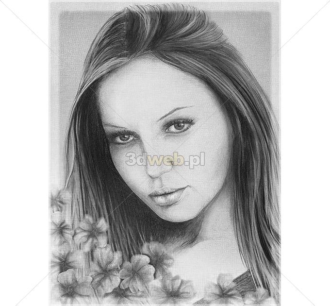 Rysunek Portret Grafika Fantasy 014
