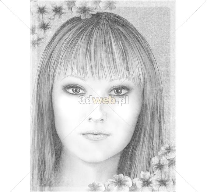 Rysunek Portret Grafika Fantasy 015